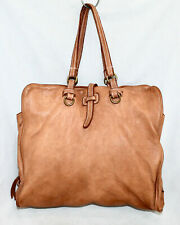 COSTANZA ROTA Corinna Tan Brown Soft Leather Satchel Tote