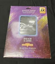 Bausch & Lomb Magna-Page Full Magnifier 2X Power