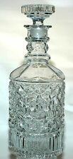 GORGEOUS PRISM & RIBS COVERED CRYSTAL GOLDEN WEDDING WHISKEY PRE-PRO DECANTER