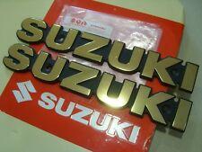 Pair Genuine Suzuki Gold Tank Badge GS 400 425 550 850 1000 GSX 750 1100 SB200