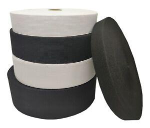 Flat Woven Elastic Various Sizes Black Stretchy Tape Band Face Mask Making UK