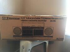 NOS Emerson Portable Cassette Stereo TV Boombox DEADSTOCK XLC450 1980s Vtg