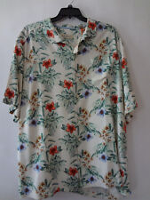 Tommy Bahama NEW  Mens  Button Down Shirt 100%  SILK MULTI COLOR XLT