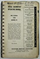 Vintage Diesel F3 Train Locomotive Operation Manual Electro Motive GM EMD 1948