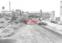 PHOTO  1977 NEARING WREXHAM CENTRAL RAILWAY STATION