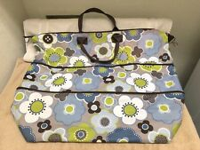 Thirty One 31 Nylon XL Weekender Luggage Tote Bag Travel Blue Harvest Floral VG