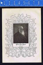 1898 Antique Print William Cullen Bryant