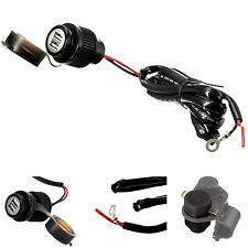 Motocicletta Bici hard wired 2 Amp RAPID Charge Dual USB caricabatterie per cellulari e GPS