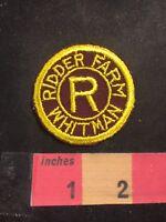 Vtg R RIDDER FARM WHITMAN (Dairy, I Think) Advertising Patch C80U