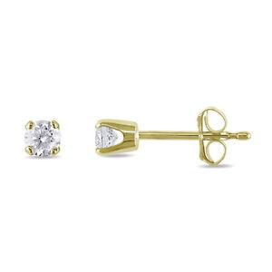 1.5 mm Diamond Tiny Stud Earrings in 10k Yellow gold ~ Gift box incl.