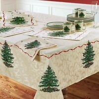 "Spode Christmas Tree Tablecloth 60"" x 120"" (Seats 10-12)"
