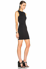 $215 NWT T by Alexander Wang Jersey Twist Bodycon Black Dress Sz XS/P fits XXS