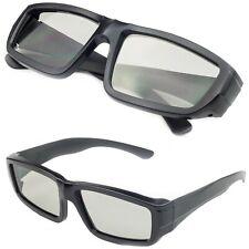 Alta Calidad Negro Universal 3D Gafas Pasivo Polarizado Hogar Película TV Cine