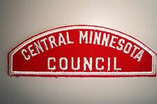 CENTRAL MINNESOTA COUNCIL PATCH OA SCOUT RED WHITE STRIP RWS MINT!