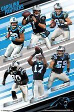Camiseta de Jersey Carolina Panthers Nº Super Six 2018 Poster-Newton, Kuechly, Olsen, funchess, MCC +