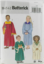 Butterick Pattern #B4542 Childrens Choir Robe & Collar Costume Size (XS-S) UCFF