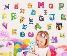 Wall Sticker Decal Alphabet Letters Animals Kids room Decor DIY
