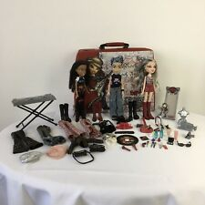 Bratz Rock Angelz Storage/Carry Case 3 Dolls Instruments and Accessories Bundle
