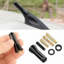 Screw 14 Inches Car Antenna Carbon Fiber Radio Fm Antena Black Kit