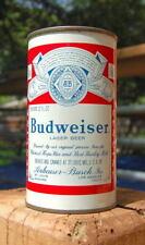 NICE 4-CITY BUDWEISER FLAT TOP BEER CAN!