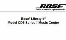 BOSE LIFESTYLE MODEL CD5 SERIES I MUSIC CENTER SERVICE MANUAL BOOK IN ENGLISH