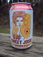 LONERIDER *SWEET JOSIE* BROWN ALE 12oz beer can Raleigh,NC * ALES FOR OUTLAWS *