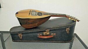 Antique MANDOLIN BOWL BACK with Case / A. Galiano U.S.A.