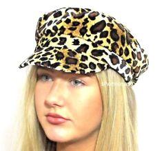 b2e48f6ff303 Fiddlers Cap Baker Boy Hat Faux Velvet Animal Print BOLD Leopard Spots  Ladies