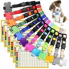 Upgraded Puppy Collars for Litter Puppy Id Collars Whelping Bone Id Tags Medium