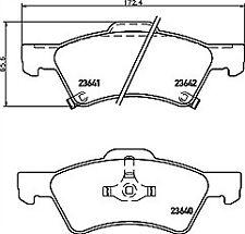 MDB2027 M1166 Mintex Racing Lot de plaquettes de frein