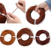 Echtes Leder Thong Cord-1,5mm / 2mm / 3mm / 4mm 10-100M Handwerk Schmuck