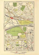 KENSAL. Green/Rise; Acton Harlesden Shepherd's Bush Brondesbury Park 1933 map