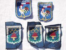 RARE lot anciens insignes tissus jeux olympiques années 50 - 60