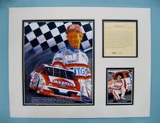 1994 Morgan Shepherd #21 Nascar 11x14 MATTED Kelly Russell Lithograph Print