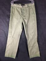 Men's Pants Size 34x30 DOCKERS Trousers Khaki Olive Slim Fit W34 L30 Slacks