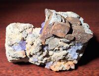 Anglesite, Cerussite, Galena, Wulfenite, Fluorite - Blanchard Mine, New Mexico