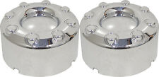 (2) 2005 FORD F350 SUPER DUTY DUALLY REAR TALL CHROME CENTER CAPS 4X4 HUBCAPS