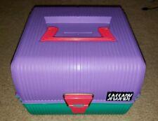 Vintage Sassaby Mirrored Purple/Green Makeup Organizer Case - Deluxe Mirrored