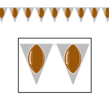 Tailgate Superbowl Football Party Prop Flag PENNANT BANNER 12 ft