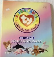 TY Beanie Babies Official Club Collectors  Cards & Binder 1998