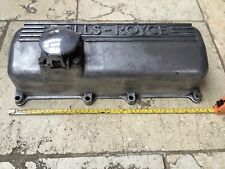 More details for vintage rolls royce polished engine alloy rocker cover sign perfect condition