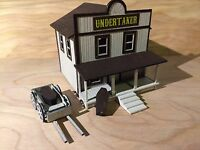 HO Scale Old West Undertaker's Parlor Kit