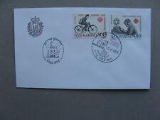 SAN MARINO, cover FDC 1983, World Communication Day, bicycle postman