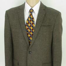 42 R (Lg) Pronto Uomo Brown Tweed Wool 2 Btn Mens Jacket Sport Coat Blazer Mint