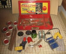 1948 Gilbert Incomplete ERECTOR SET No 6 1/2 - Electric Engine Works Though!