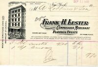 Sept 11 1906 Frank H. Lester Wholesale Merchant original paper invoice