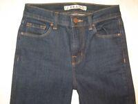 J Brand High Waist Flare Jeans Womens Sz 24 Dark Blue w Stretch L 29.75