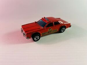 1982 Hot Wheels #5 Fire Chaser Chief Patrol Car #2639 HK (Dodge Red 1:64)
