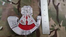 Light Infantry Capbadge Chrome Door Knocker, Bugle, LI, Red, 5 inch