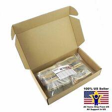 50value 2000pcs 1/2W Carbon Film Resistor Assortment Kit US Seller KITB0128